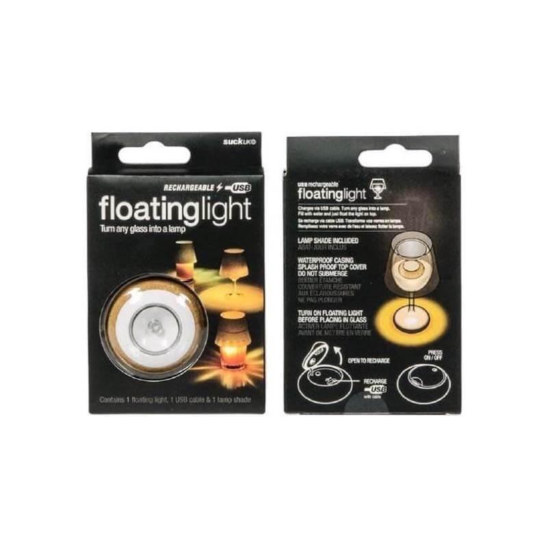 Floatinglight Lamp in een glas