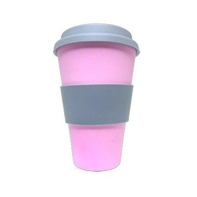 koffiebeker bamboe roze