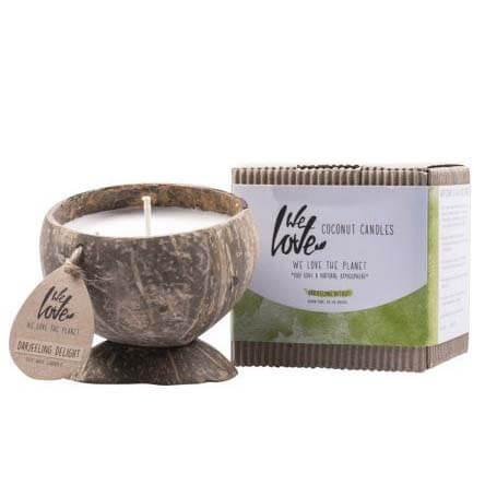 Gifvrije kokosnootkaarsen darjeeling tea