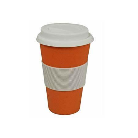 koffiebeker oranje