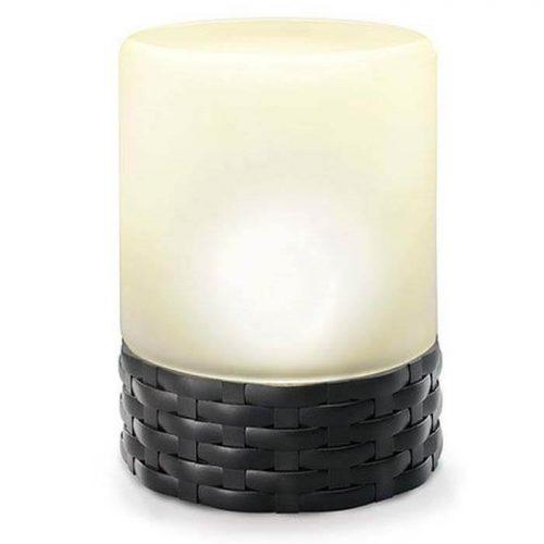 LED kaarsen Rattan Style