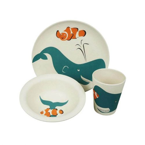 Kinderservies Walvis