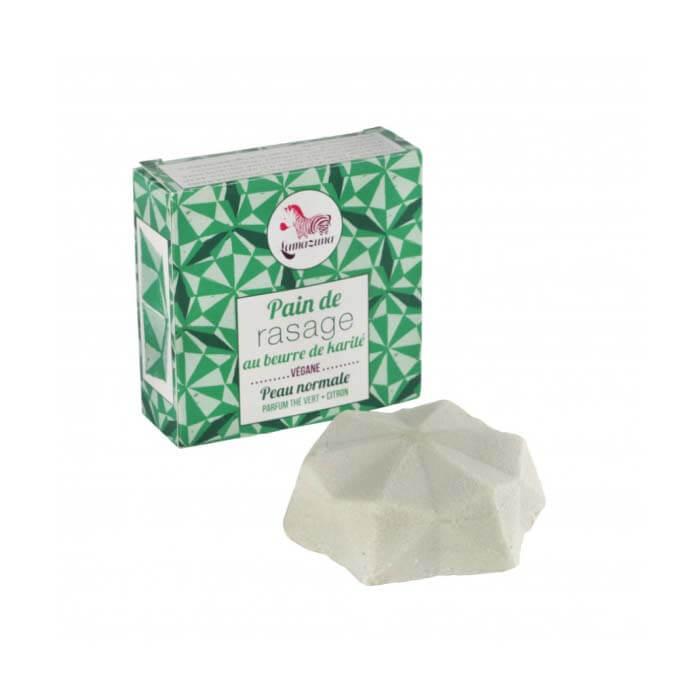 Scheerzeep in blok- groene thee/citroen