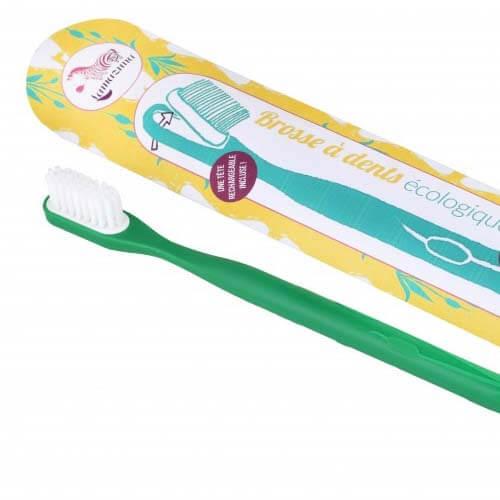 Tandenborstel Groen Medium verwisselbare kop