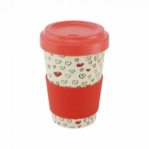 Bamboe Koffiebeker rood
