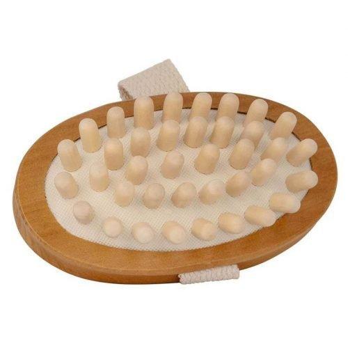 Handmassage borstel - bamboe