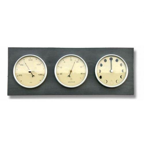 Thermo barometer en maanstandenklok - Liggend