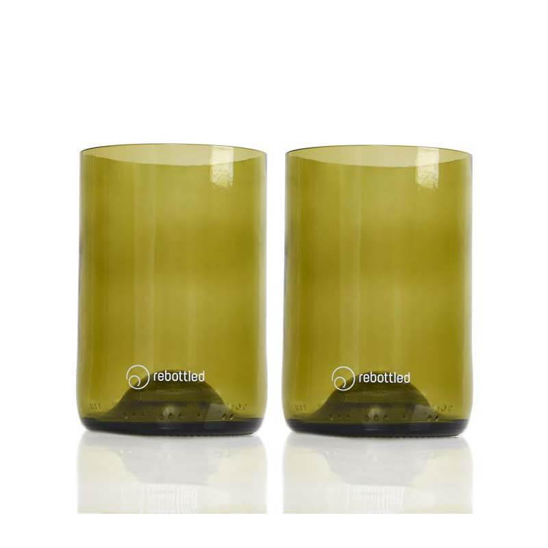 Rebottled Glazen amber