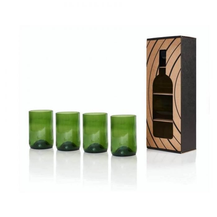 Rebottled Glazen green