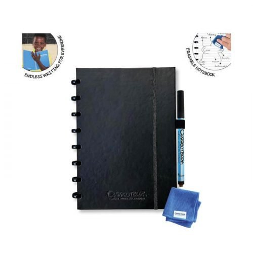 Correctbook Hardcover Notitieboek blanco A5 zwart