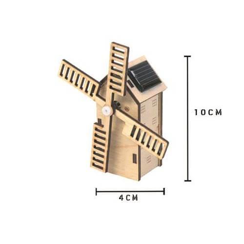 Hollandse molen met zonnepaneel - mini