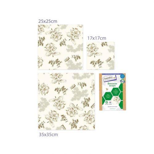 Bijenwasdoeken Set Flower print