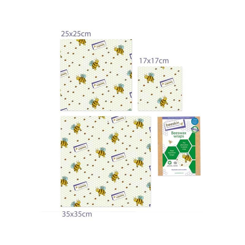 Bijenwasdoeken Set Kids print