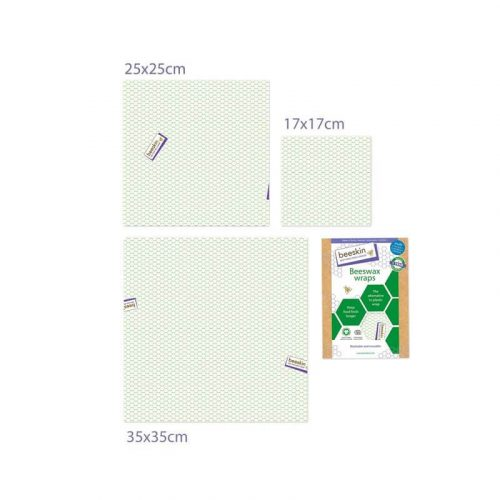 Bijenwasdoeken Set Standard print