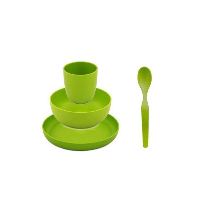 Kinderservies Bioplastic Groen