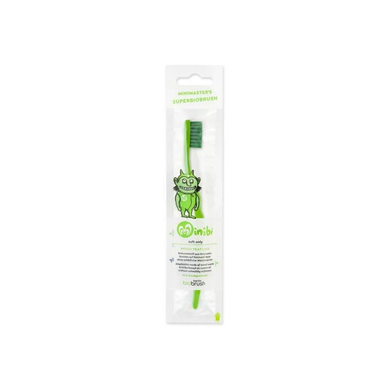 Biobrush kindertandenborstel groen