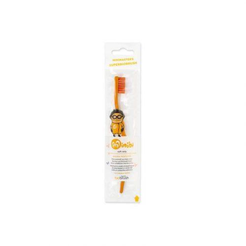 Biobrush kindertandenborstel oranje