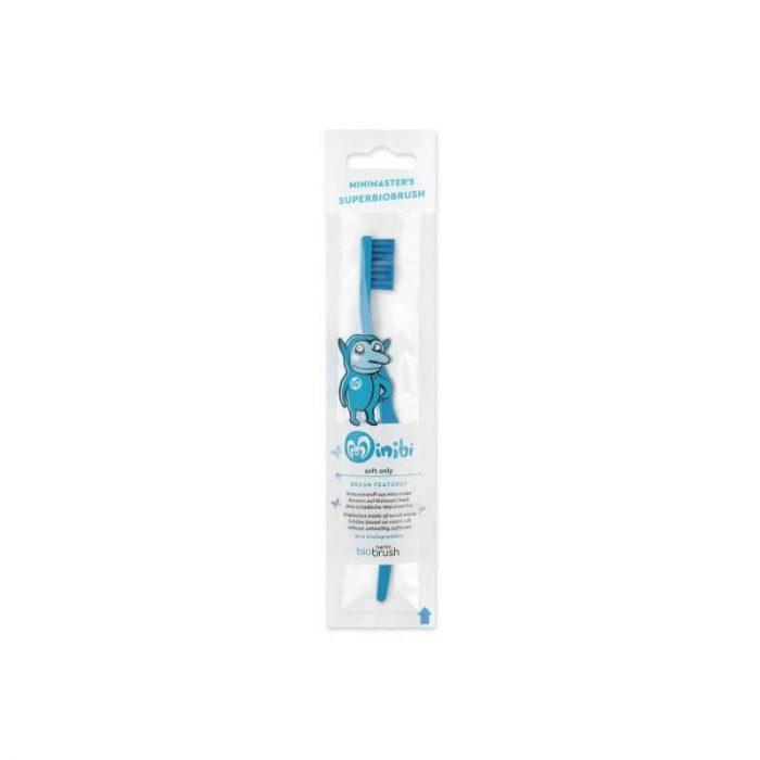 Biobrush kindertandenborstel blauw