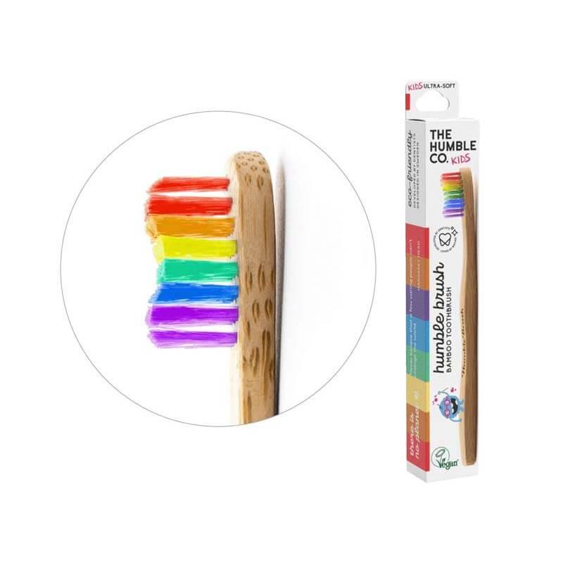Bamboe tandenborstel regenboog